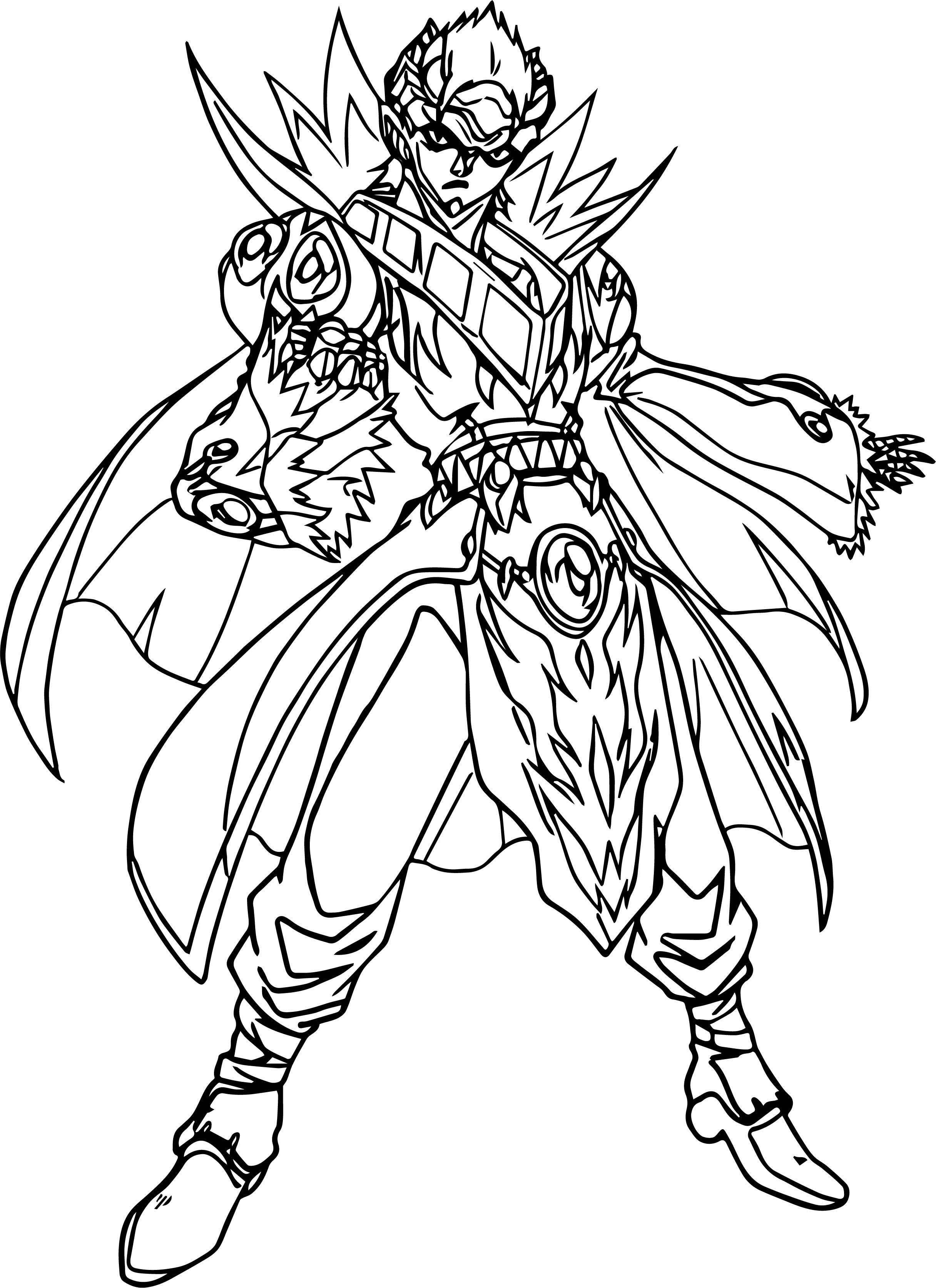 Bakugan Gundalian Invaders Coloring Page