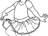 Ballerina Cartoon Girl Coloring Page