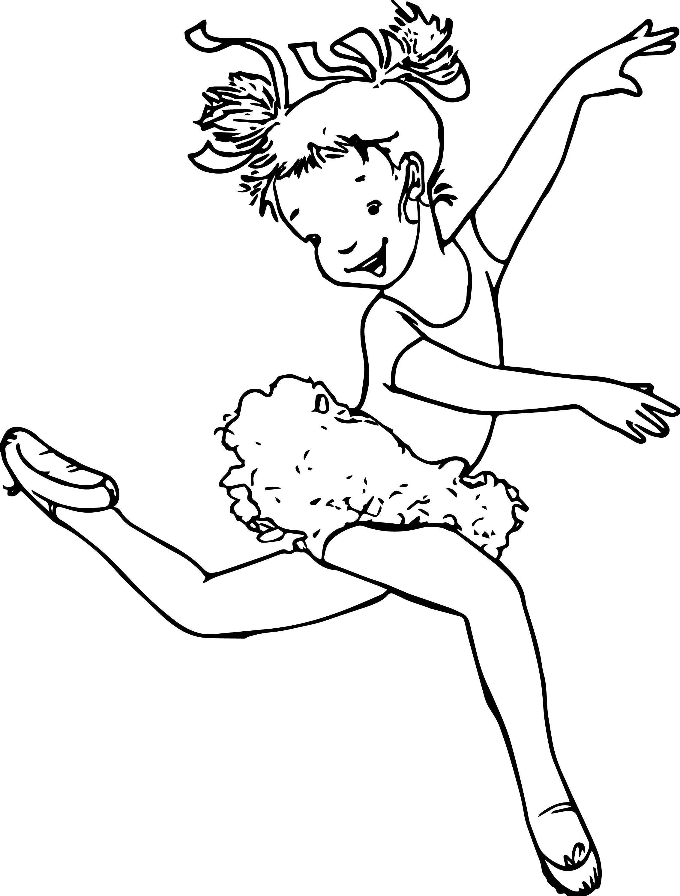 Ballerina Girl Walking Coloring Page