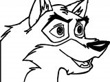 Balto Dog Face Coloring Page