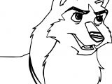 Balto Kodi Base Based On Movie Scene Wolf Coloring Page