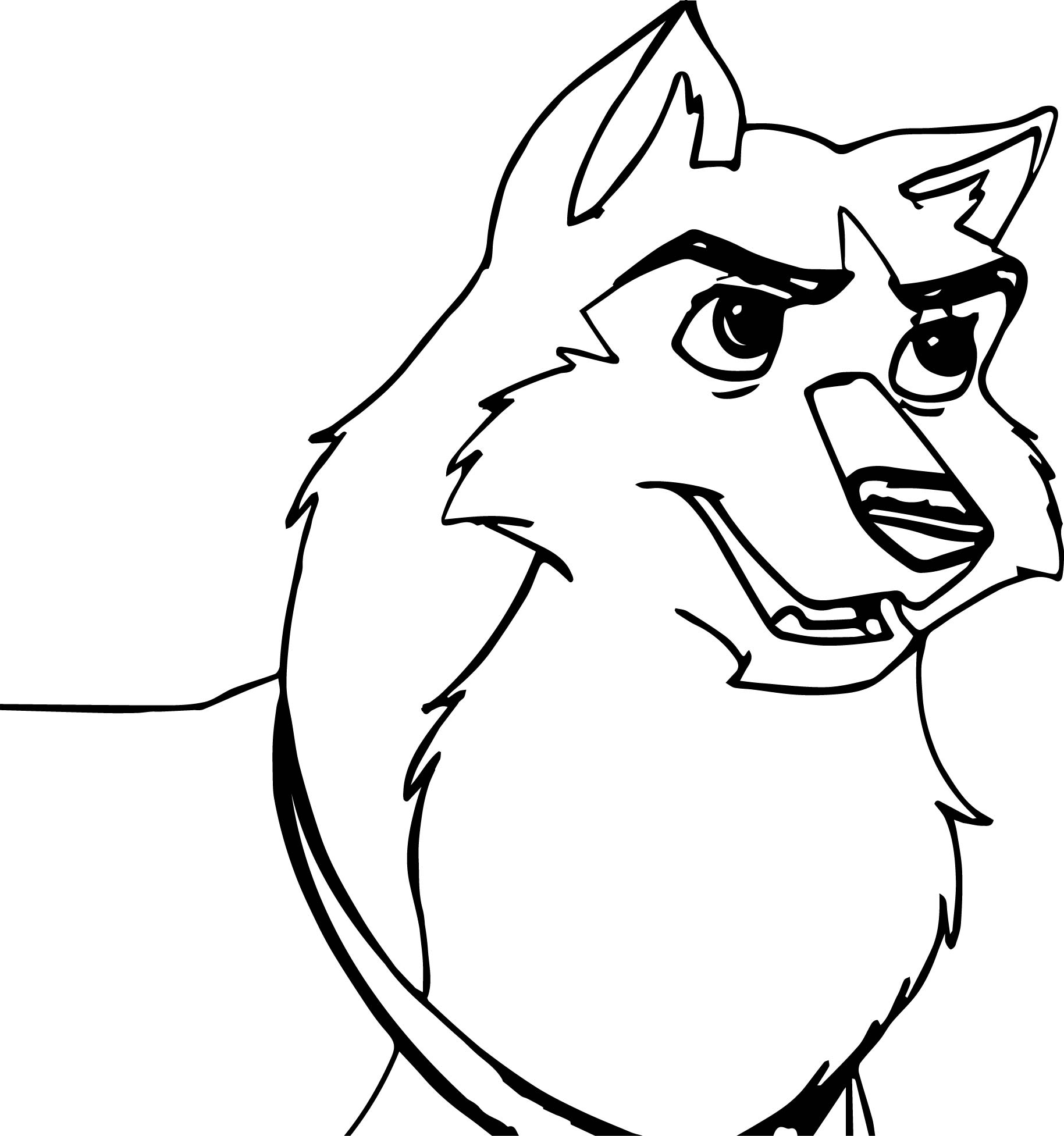 Balto Kodi Base Based On Movie Scene Wolf Coloring Page
