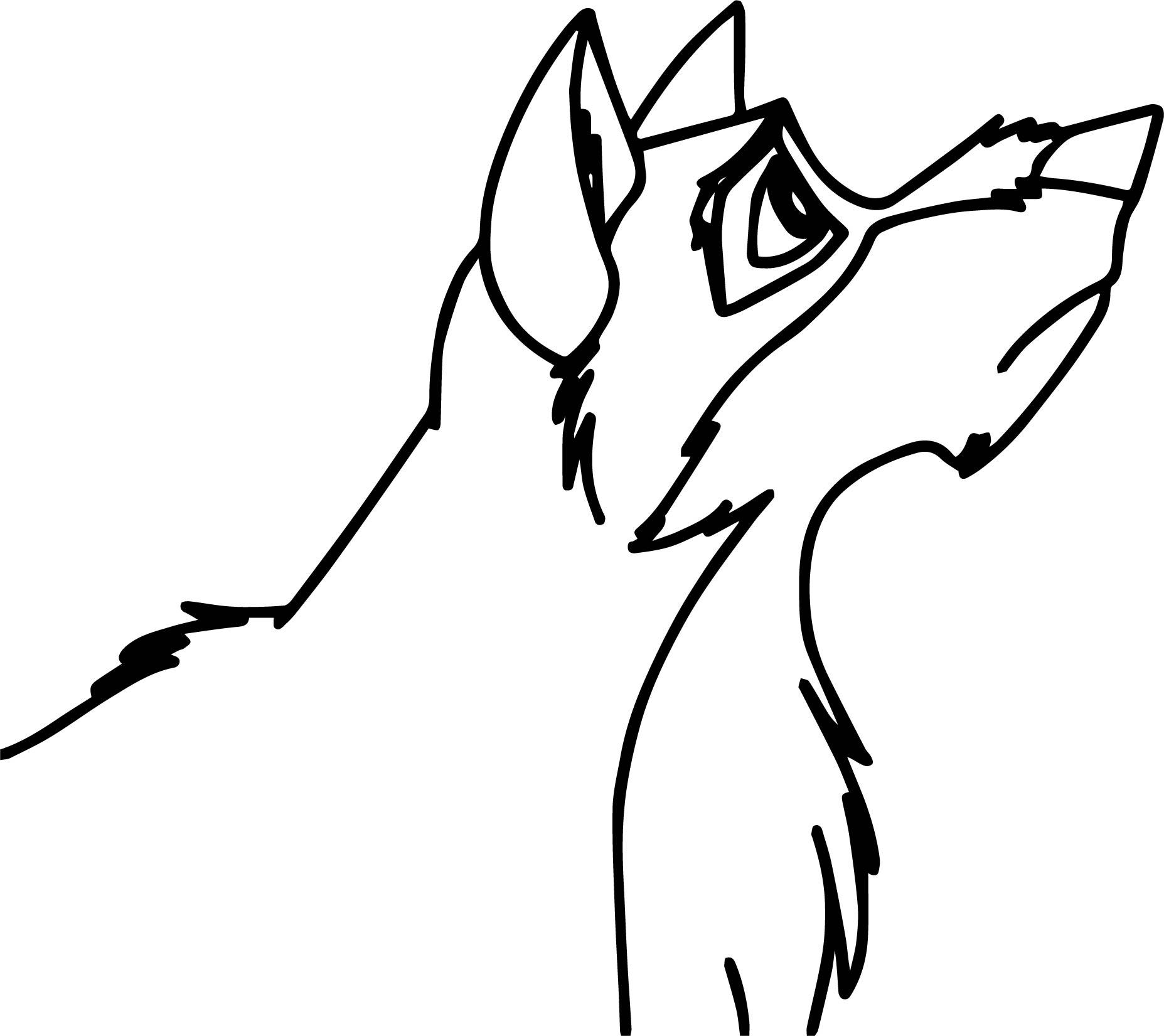Balto Para Colorear Side Wolf Coloring Page