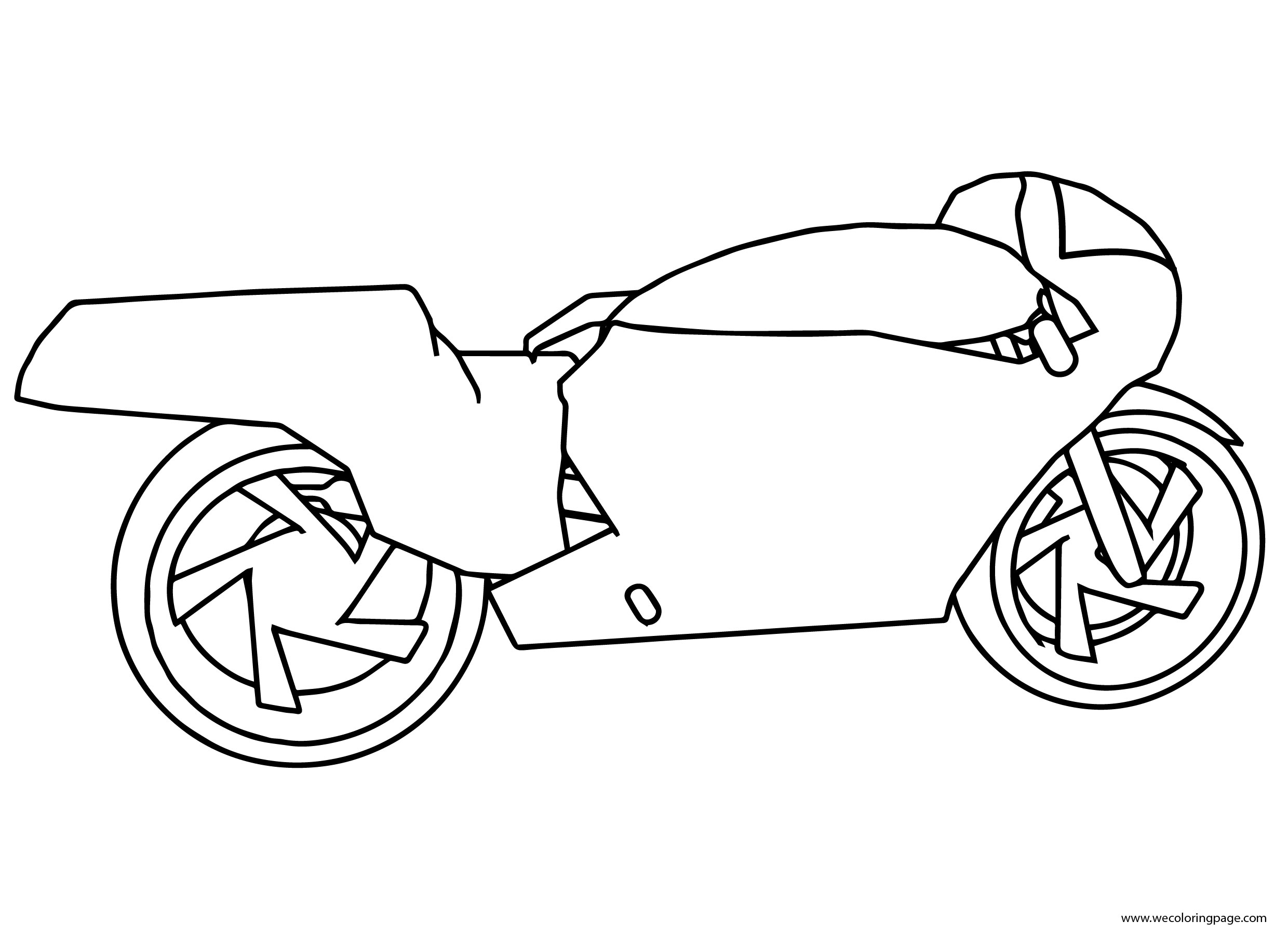 Basic Motorcycle Coloring Page