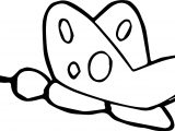 Basic Side Butterfly Coloring Page