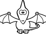 Bat Dinosaur Coloring Page
