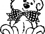 Bear Bow Tie Coloring Page