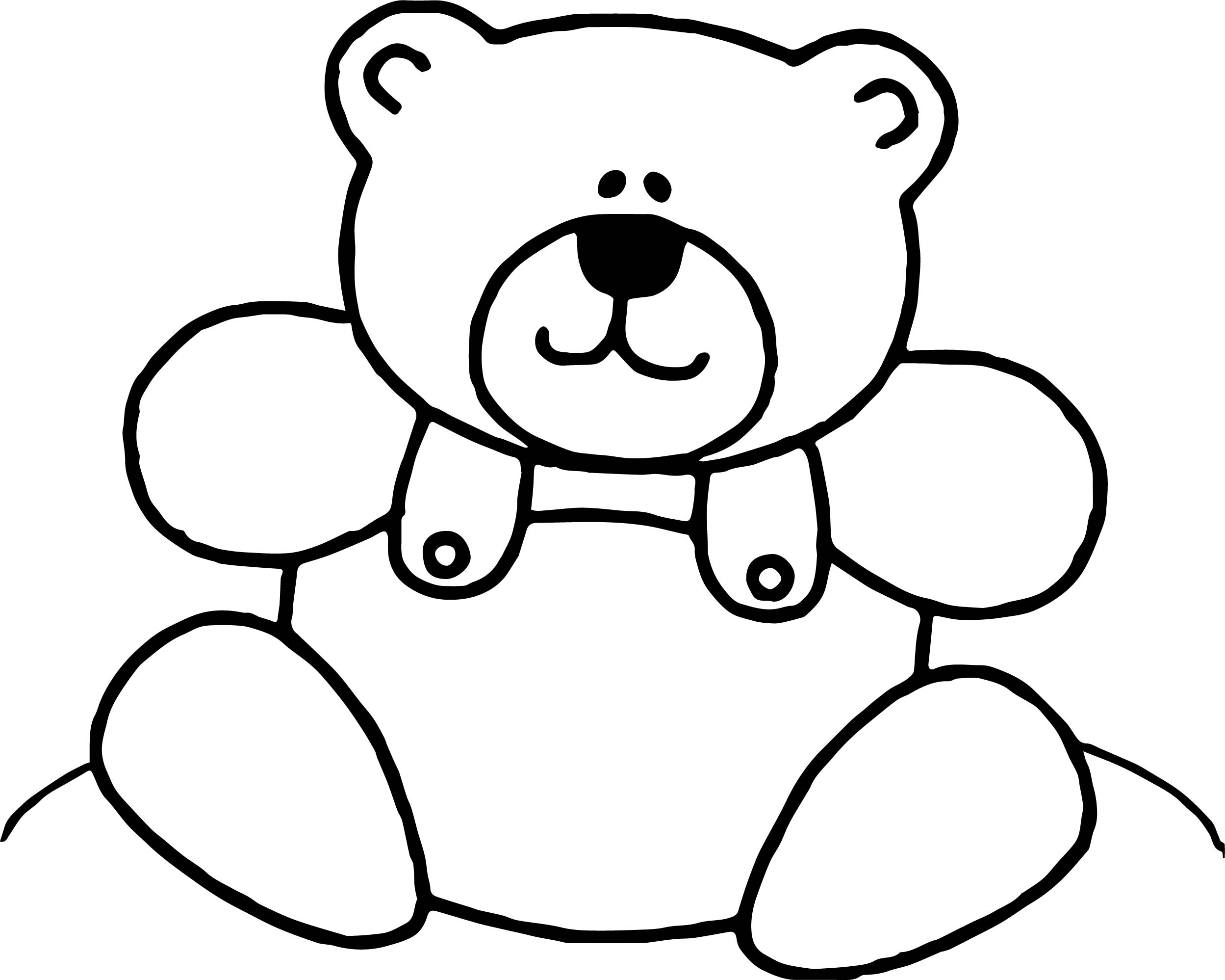 Bear Toy Just Coloring Page