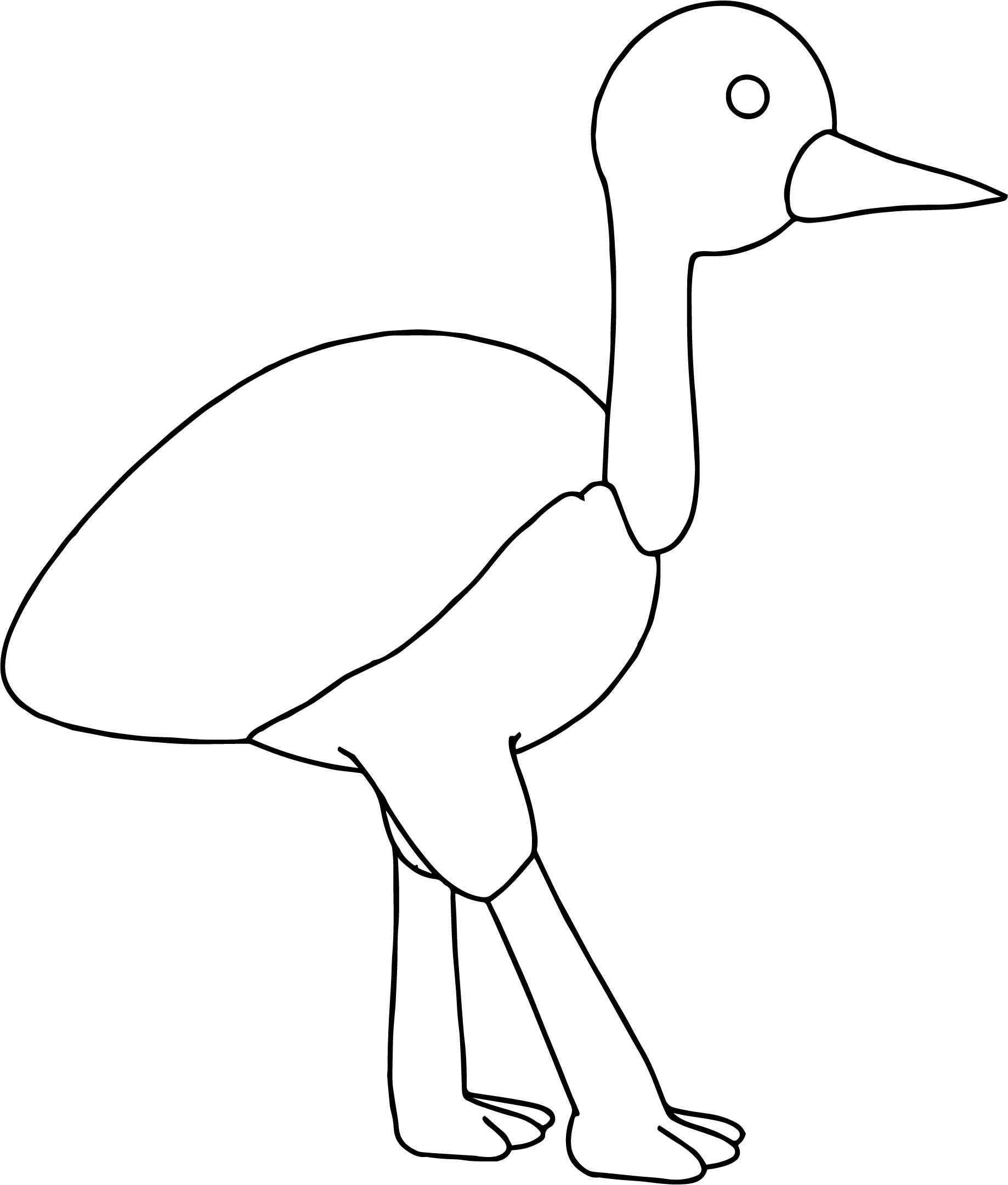 Beautiful Toy Swan Walking Black White Coloring Page For Color Sheet