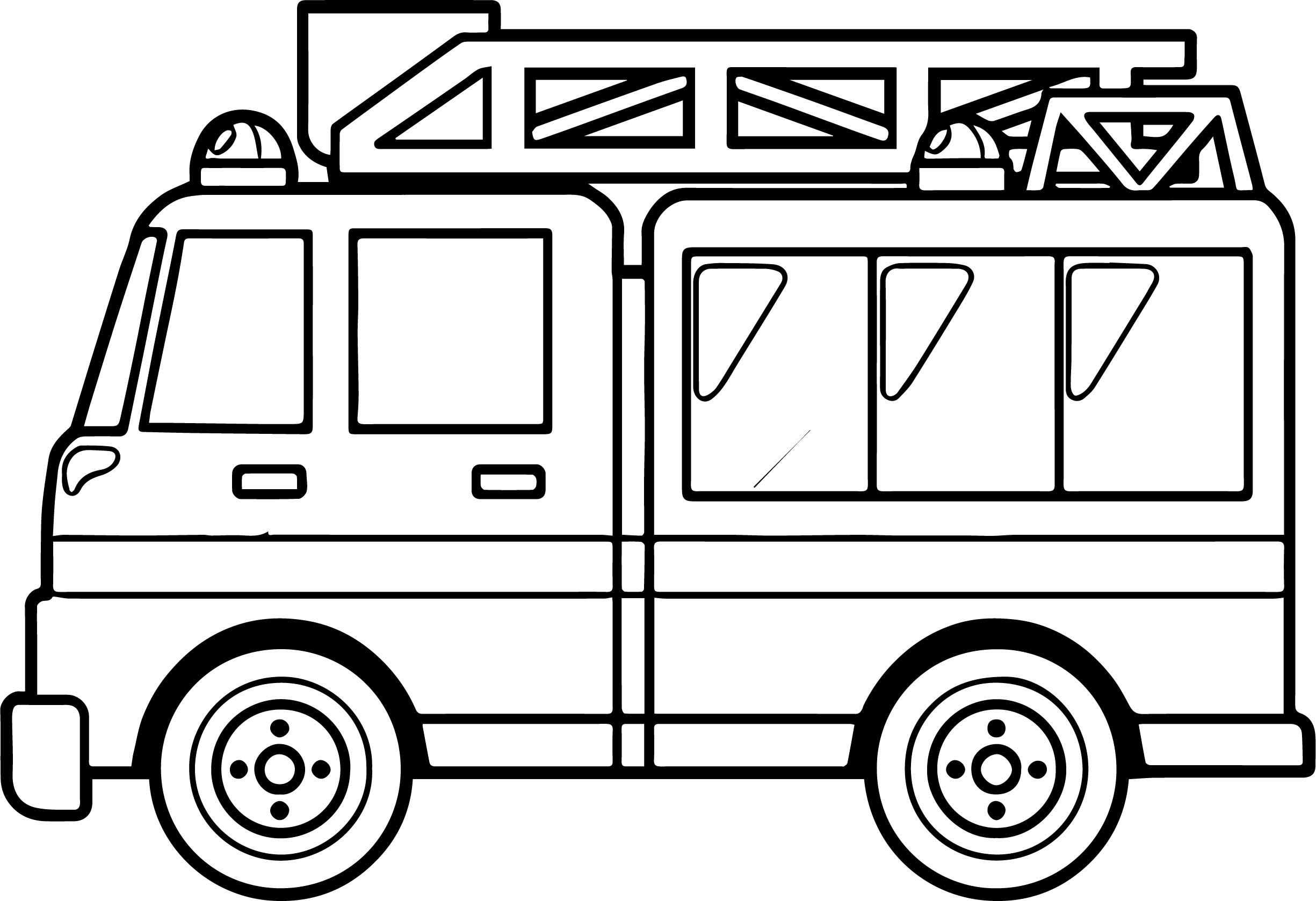 Best Fire Truck Coloring Page Wecoloringpage