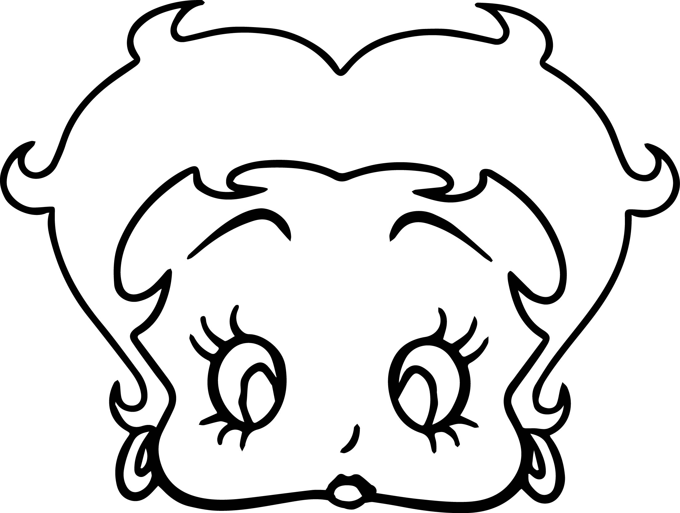 Betty Boop Face Coloring Pages