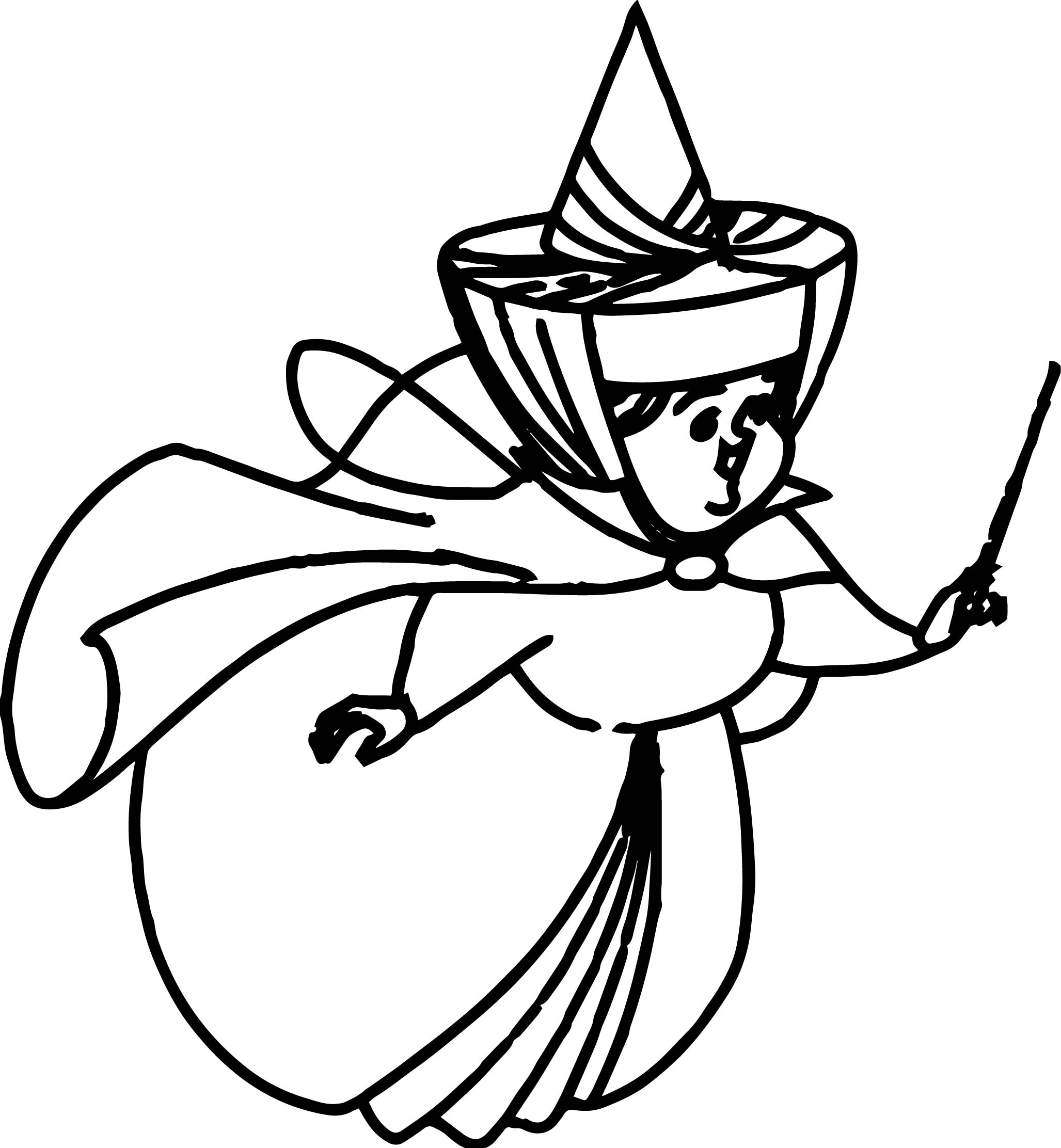 Big Aurora Flora Fauna and Merryweather Coloring Pages