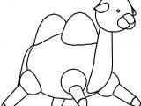 Big Camel Cartoon Coloring Page