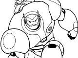 Big Hero 6 Characters Baymax Hiro Go Coloring Page
