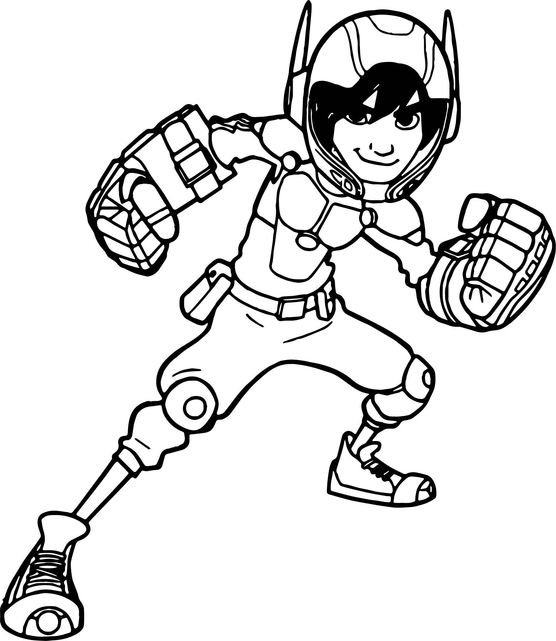 Big Hero 6 Characters Hiro Hamada Punch Coloring Page