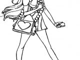 Big Hero 6 Characters Honey Lemon Girl Staying Coloring Page