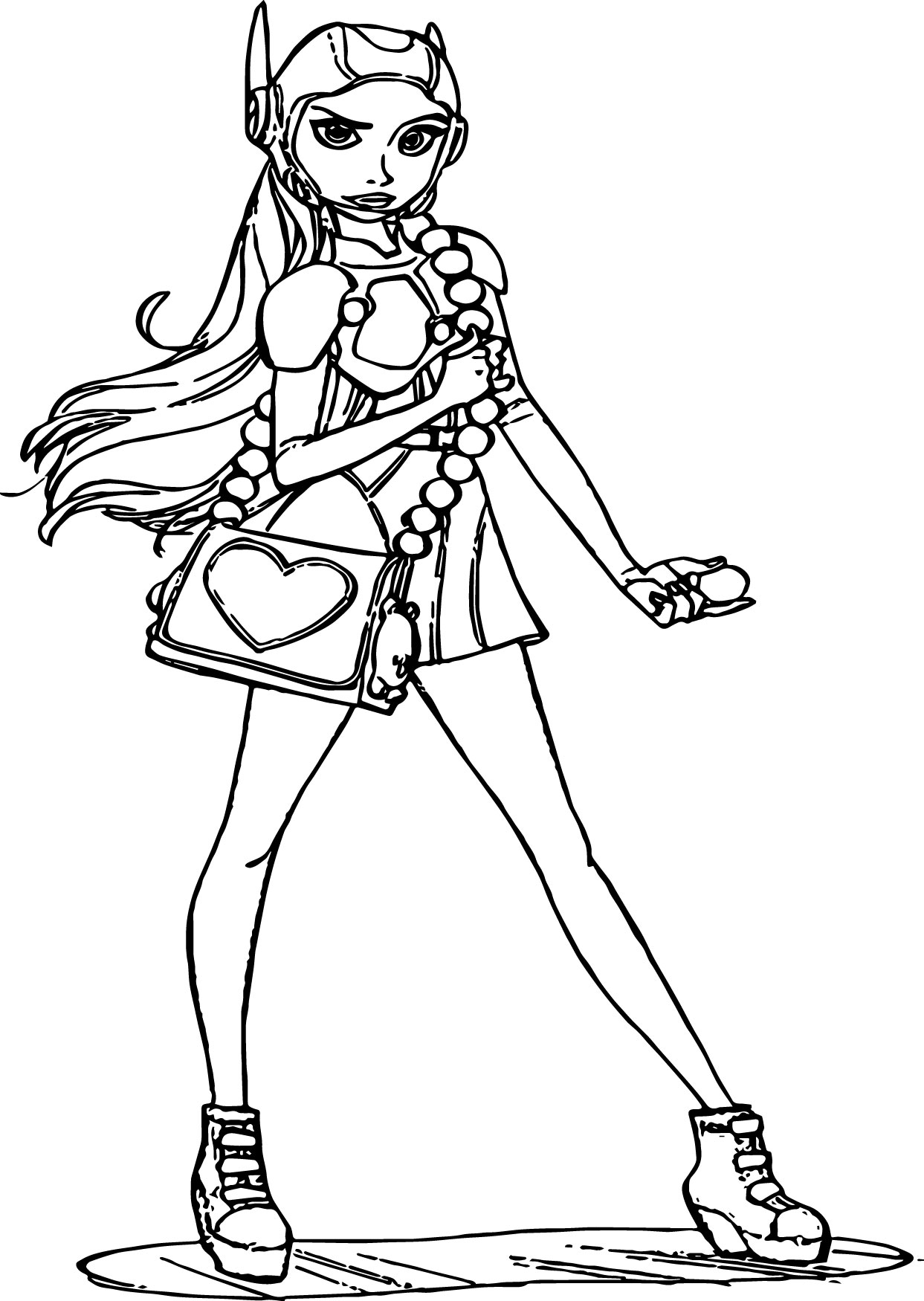 Big hero 6 characters honey lemon girl staying coloring for Big girl coloring pages