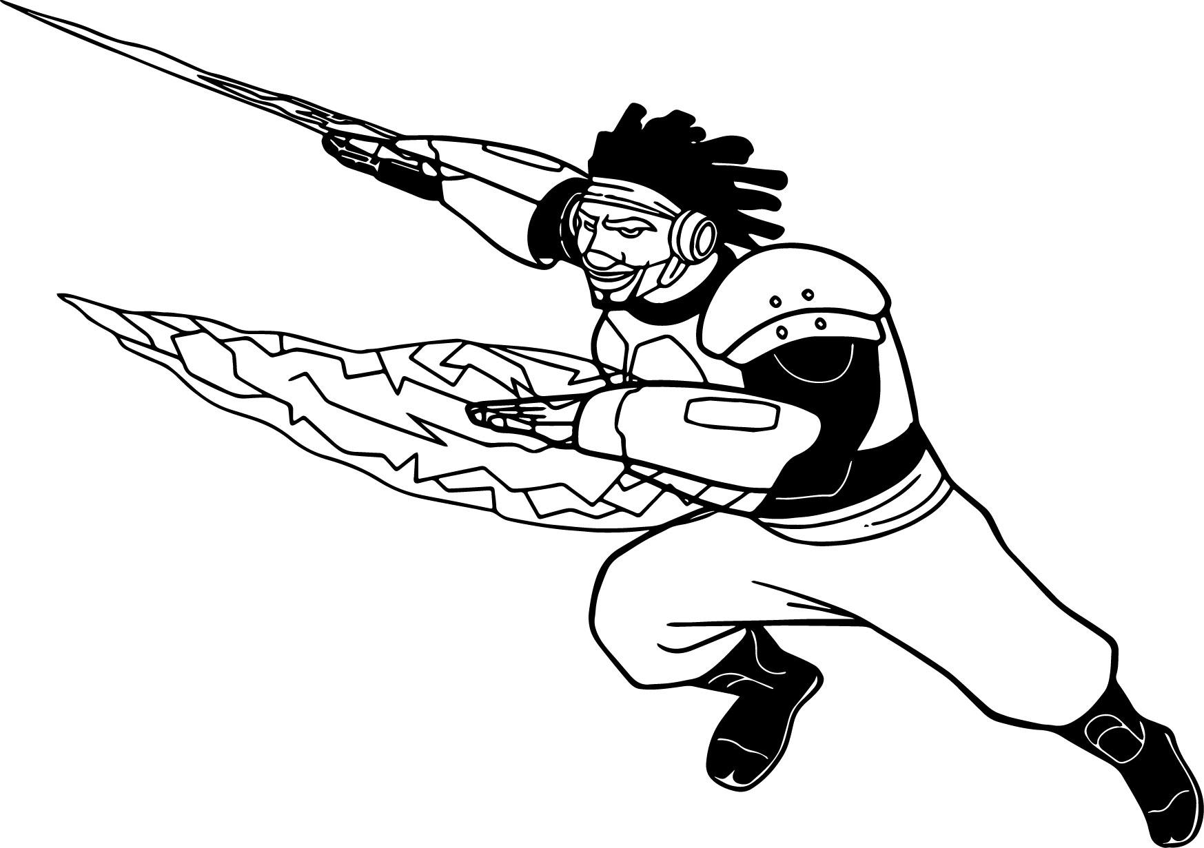 Big Hero 6 Characters Wasabi Coloring Page