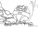 Big Pig And Small Pigs Angry Birds Coloring Page