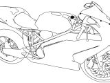 Bikes Ducati 999R Motorcycle Coloring Page