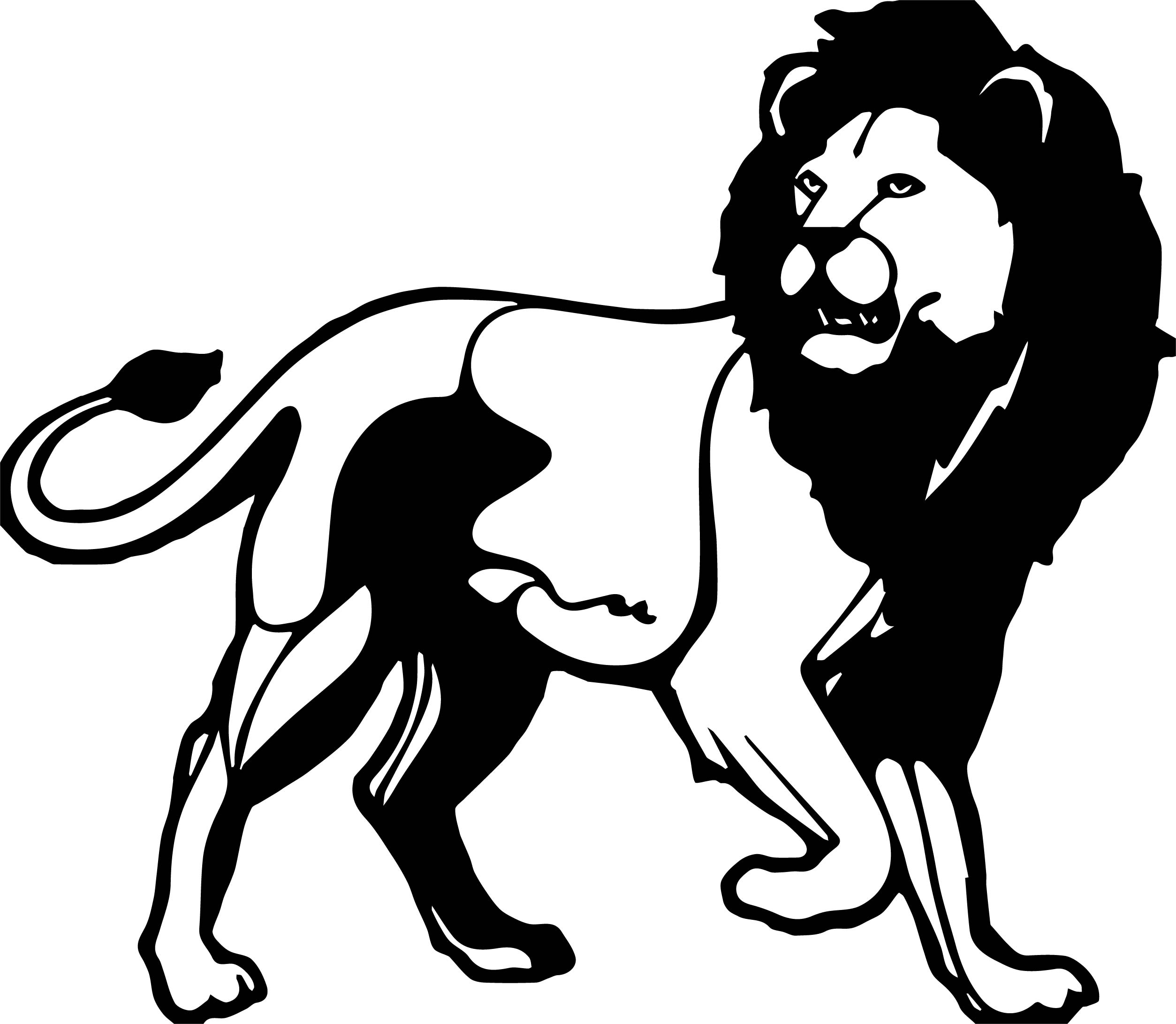 Black Head Lion Coloring Page