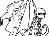 Blue Eyes White Dragon American Dragon Crossover Coloring Page