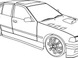 Bmw 325i Tuning Sport Car Coloring Page