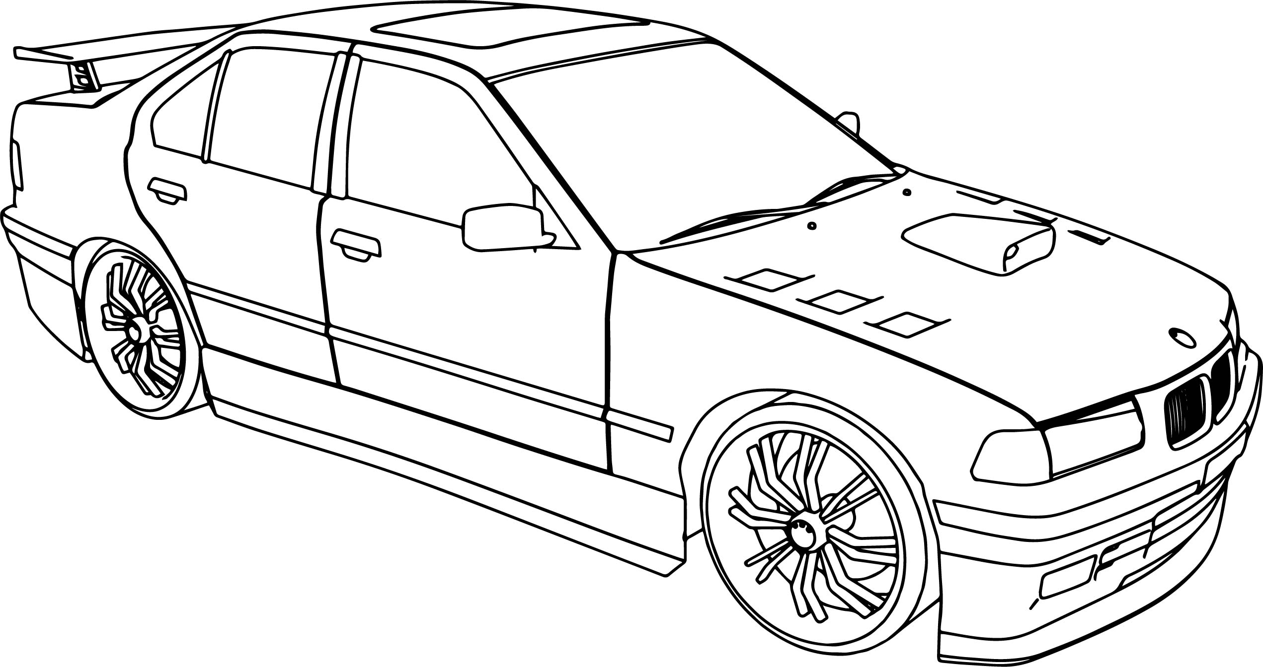 Tuner Car Coloring Pages : Bmw i tuning sport car coloring page wecoloringpage