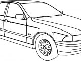 Bmw 540 Model Car Coloring Page