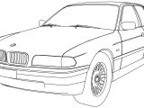 Bmw 750 Model Car Coloring Page