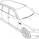 Bmw Limousine Car Coloring Page
