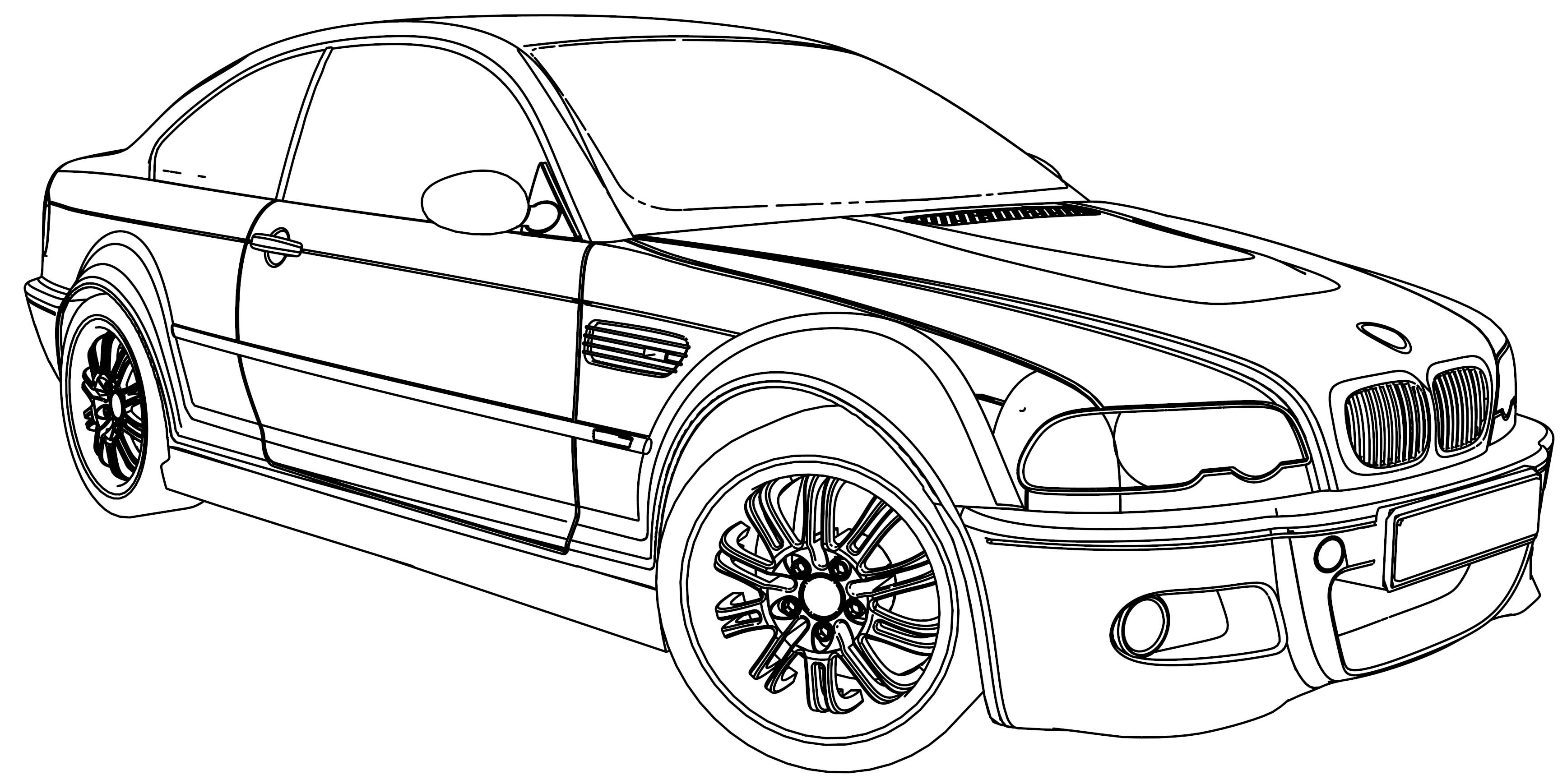 bmw m5 car coloring page