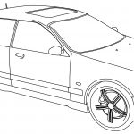 Bmw M5 Sport Tuning Car Coloring Page