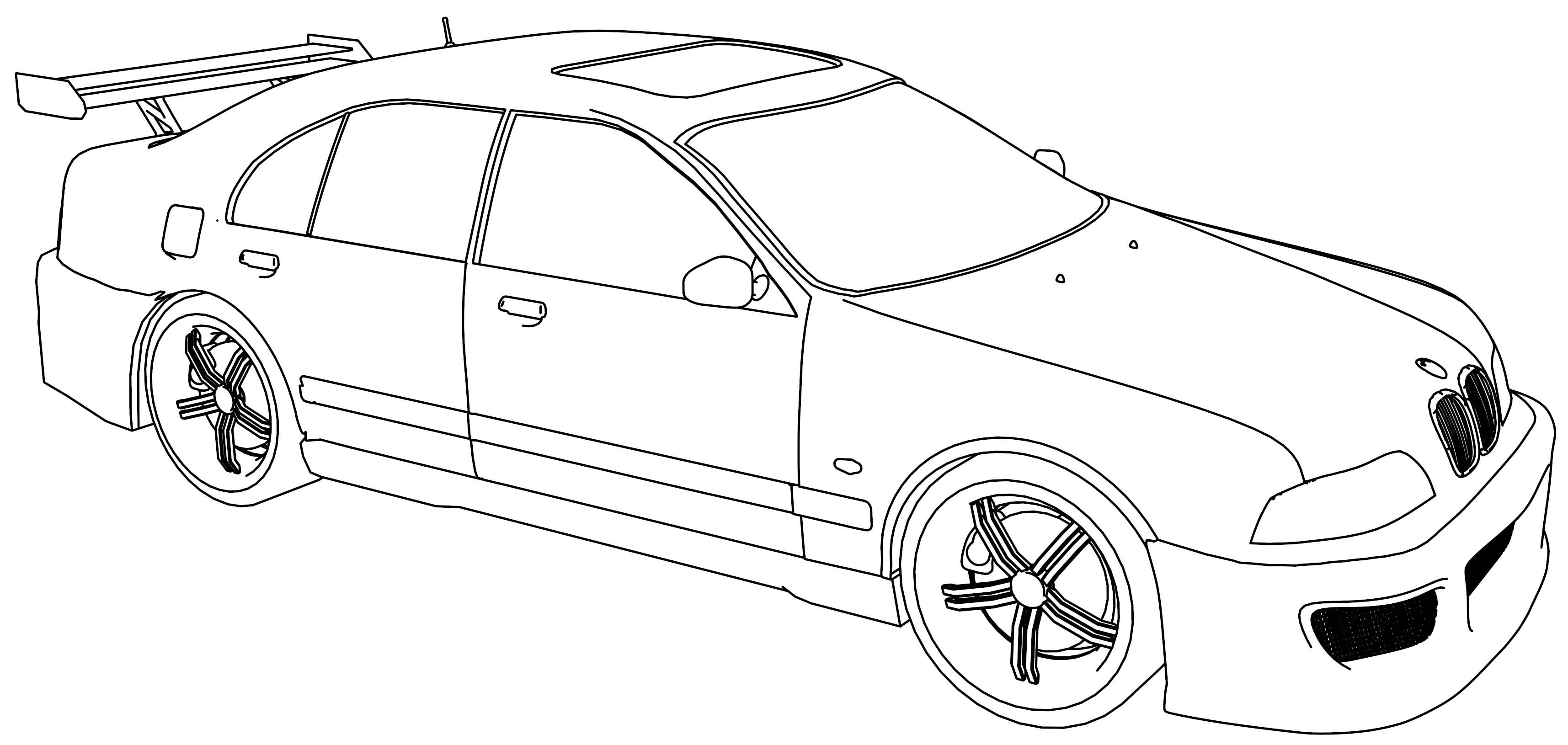 Bmw M5 Sport Tuning Car Coloring Page on driving car