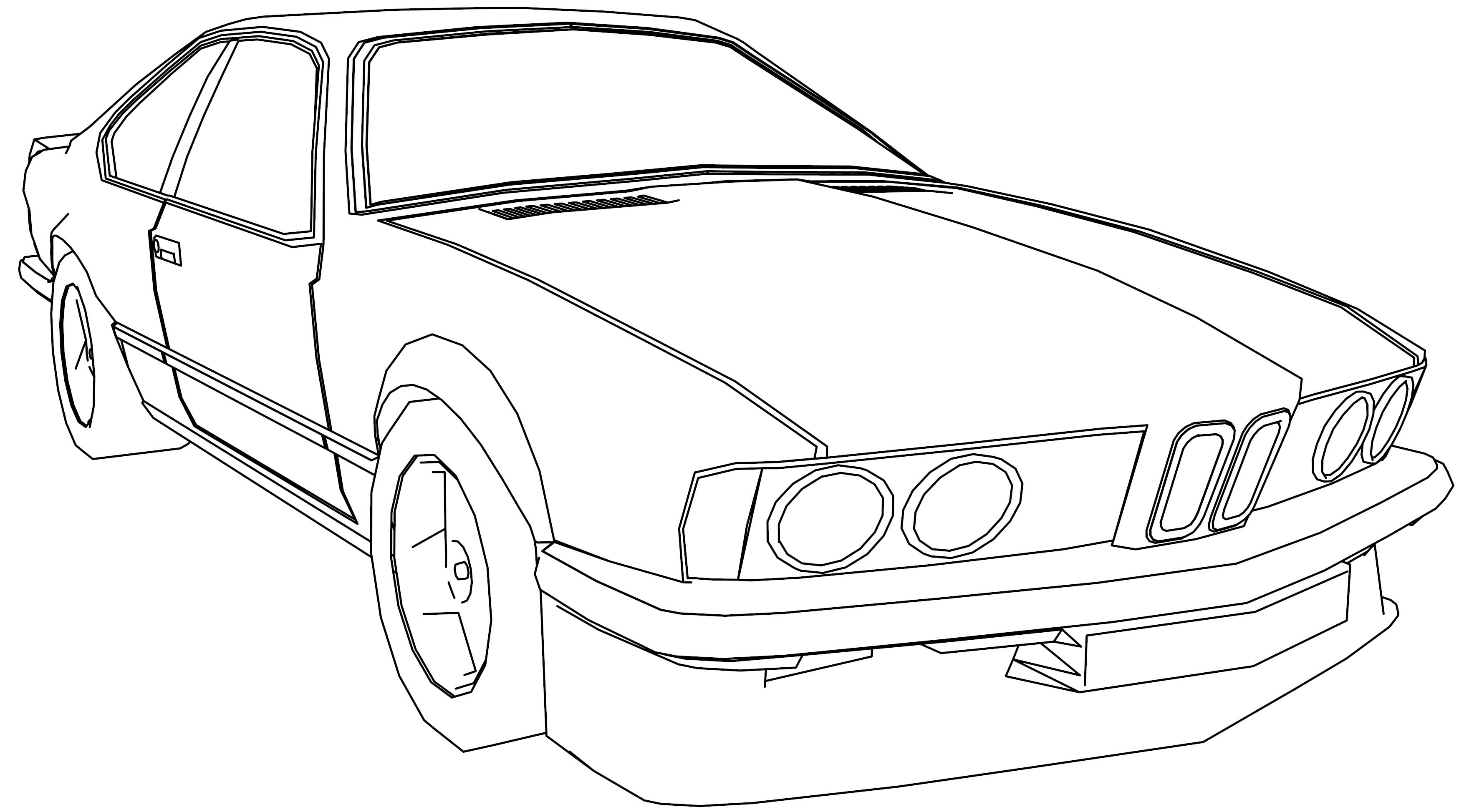 bmw m6 car coloring page