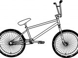 Bmx Bicycle Coloring Page