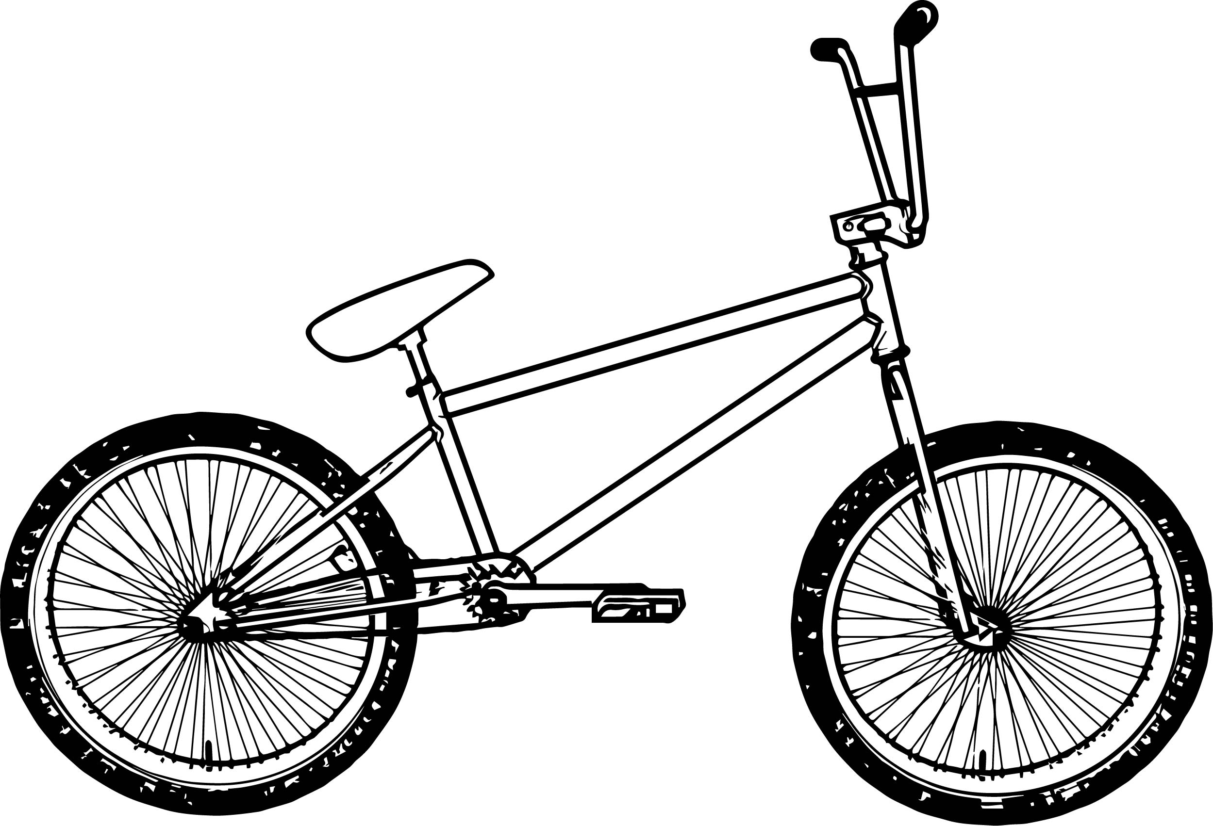 Coloring Pages Of Police Car : Bmx bicycle coloring page wecoloringpage