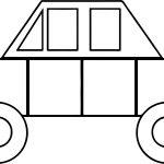 Box Car Coloring Page