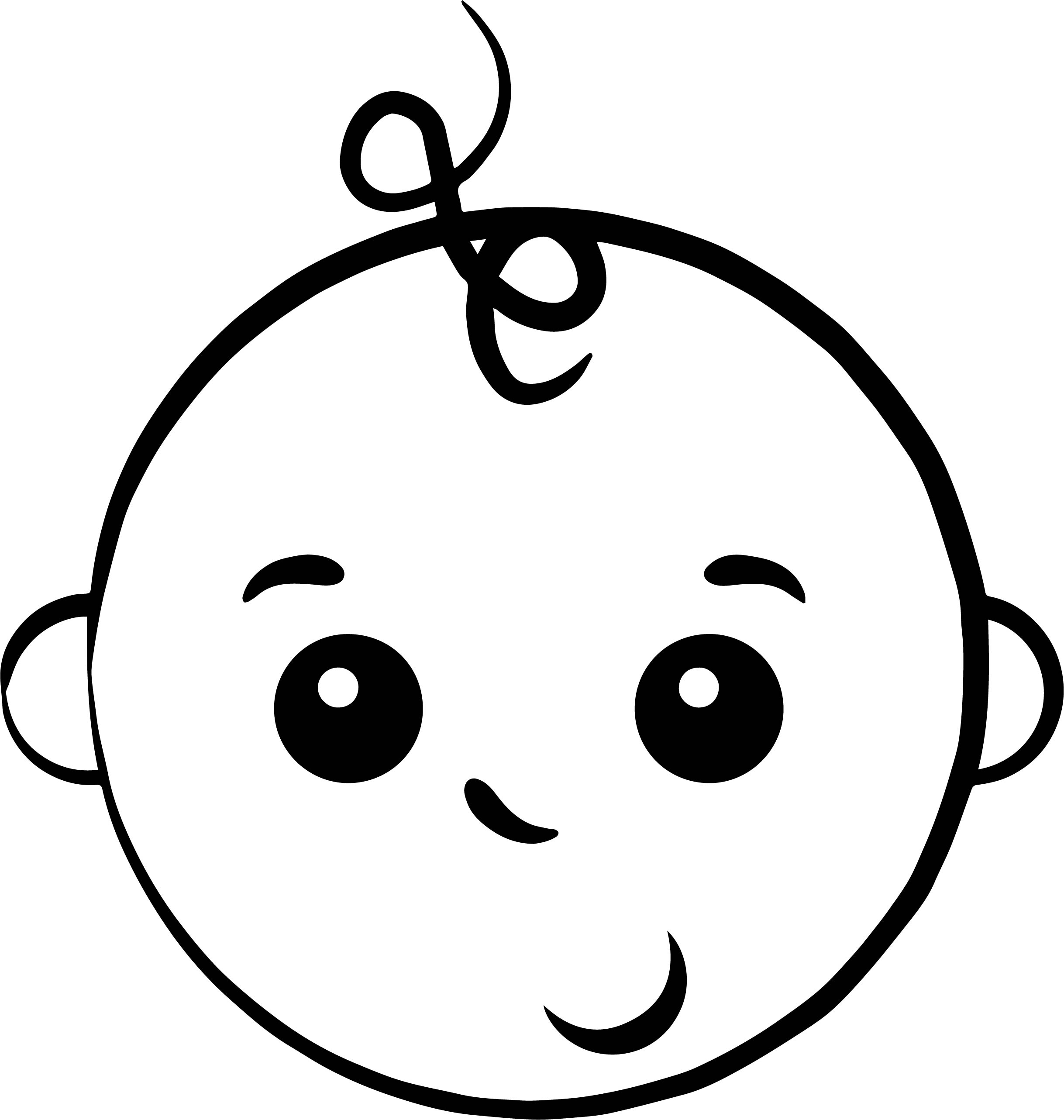 Boy Baby Face Coloring Page