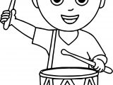 Boy Band Drum Coloring Page