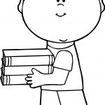 Boy Books Coloring Page
