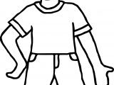 Boy Front View Coloring Page