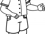 Boy Greeting Coloring Page