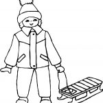Boy Ice Skate Coloring Page