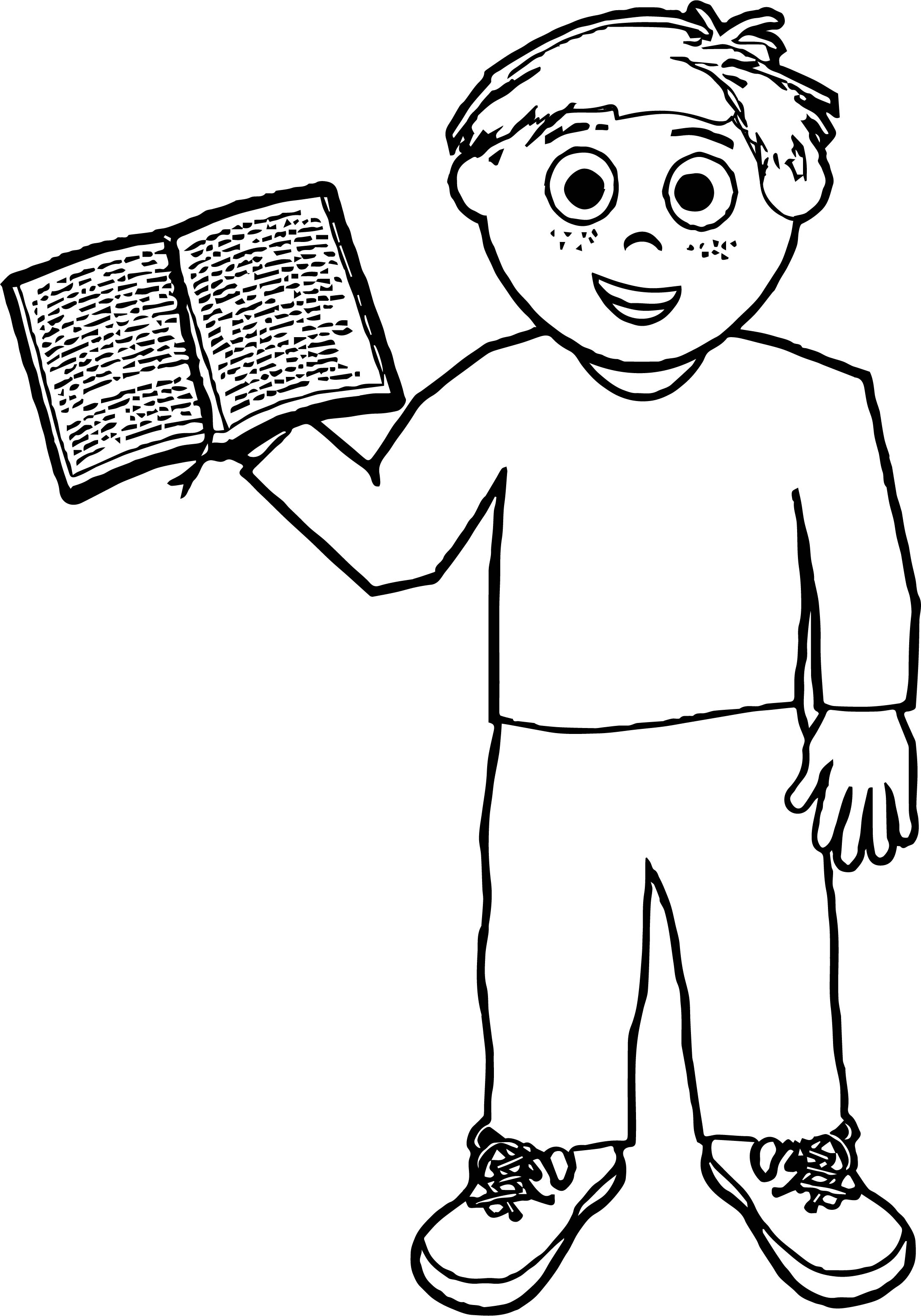 Boy My Book Coloring Page