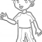 Boy Outline Line Coloring Page