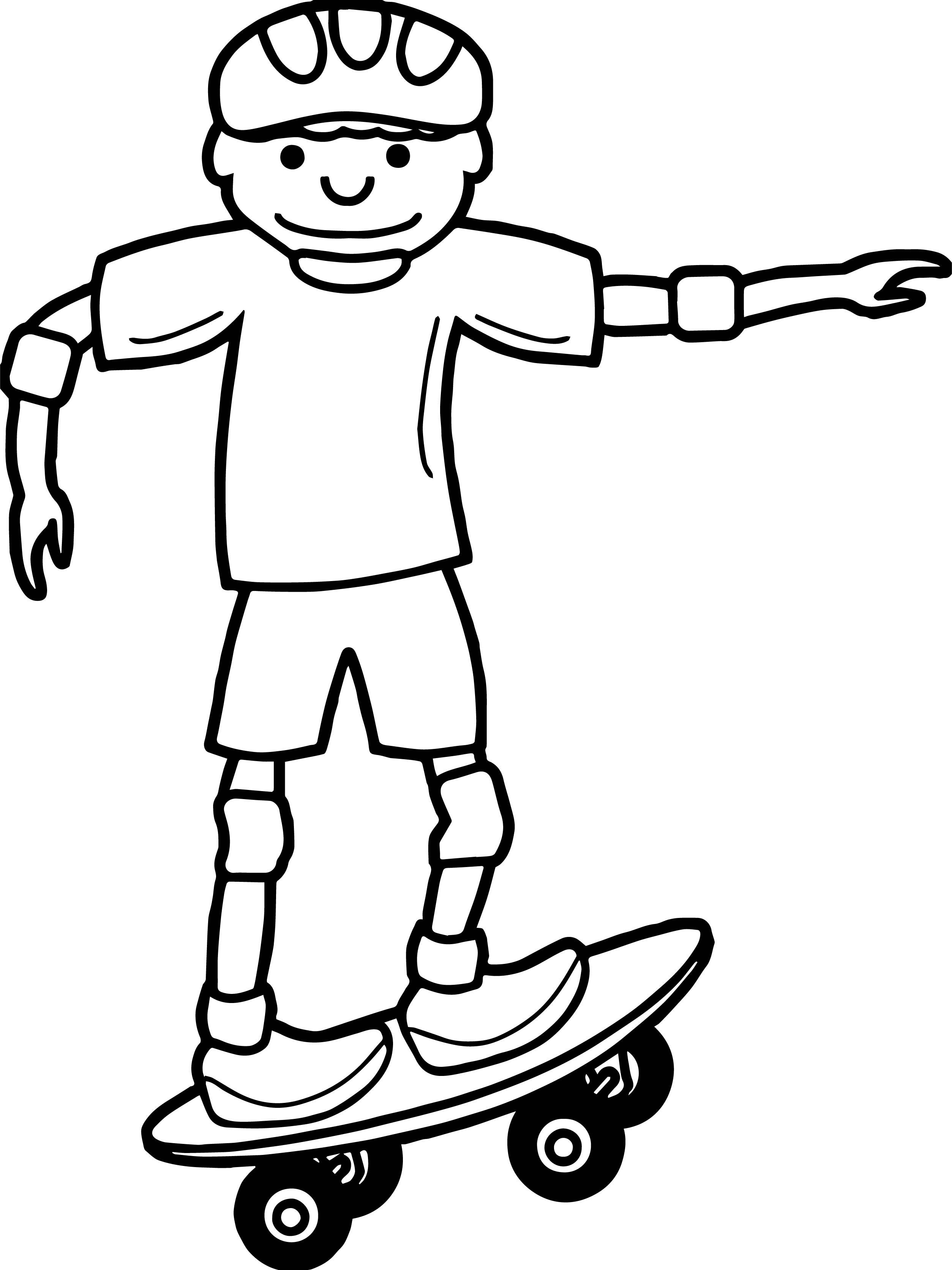 Boy Skater Coloring Page