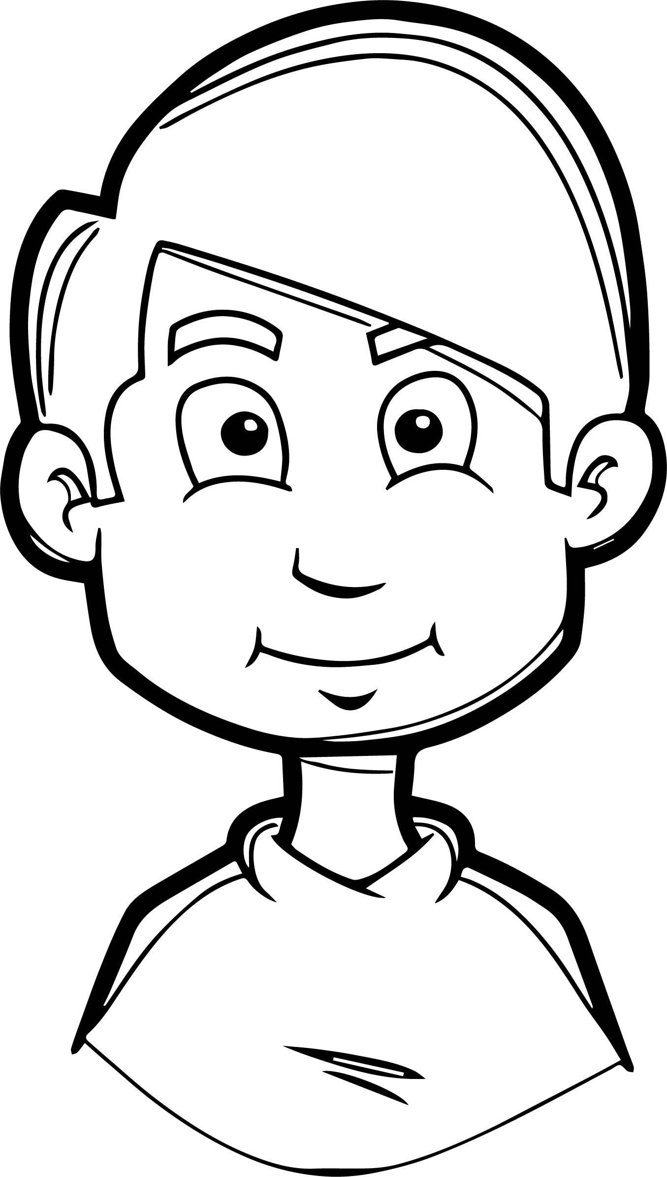 coloring page of a boy - boy soccer face coloring page