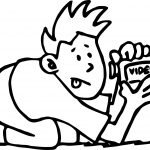 Boy Video Camera Coloring Page