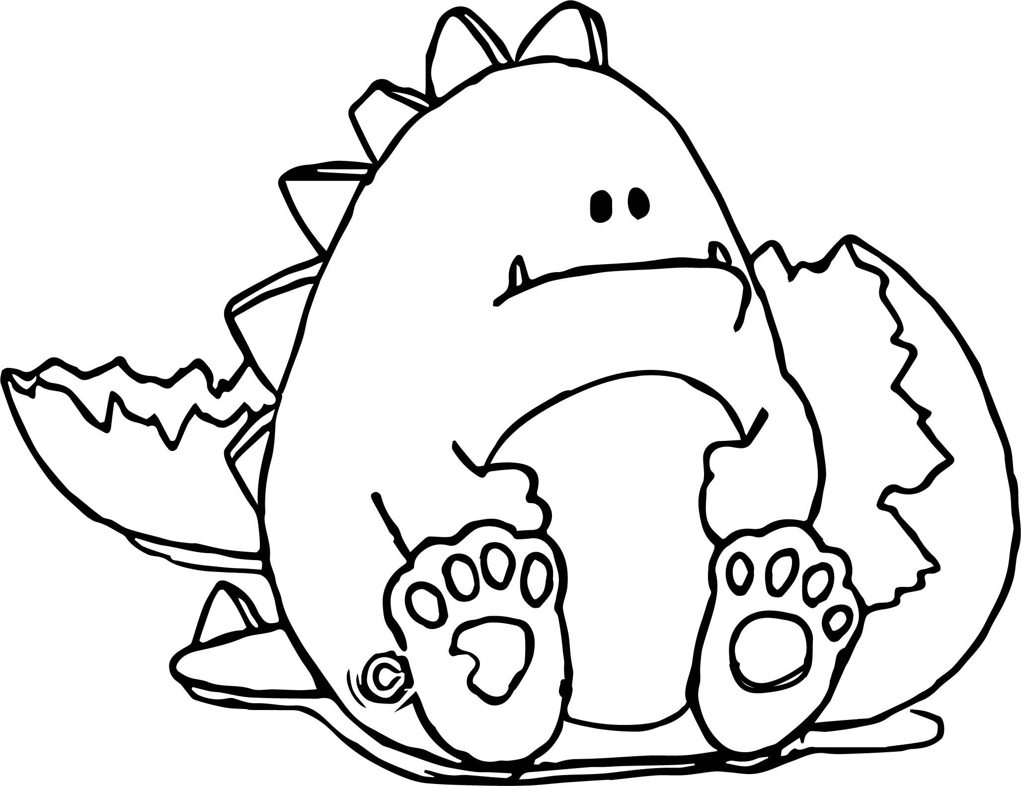 Broken Egg Baby Dinosaur Coloring Page